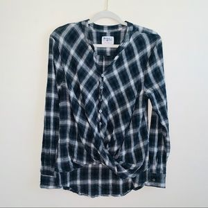 Anthropologie Holding Horses Plaid Flannel Top